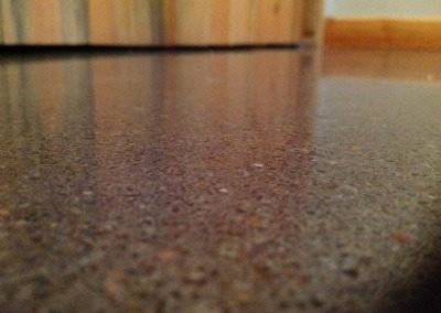 Custom polished concrete floor