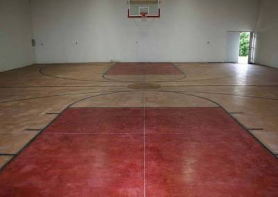 Polished and stained concrete