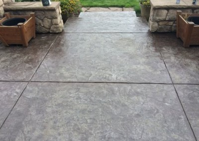 Custom concrete faux finish