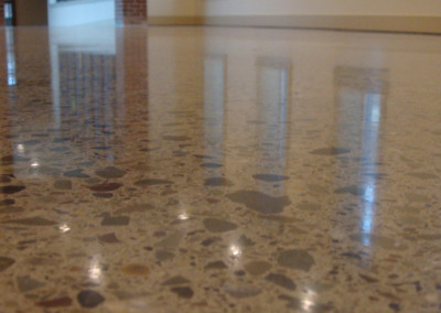 Custom polished concrete