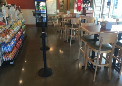 Polished concrete floor - Jersey Mike's in Salem, OR